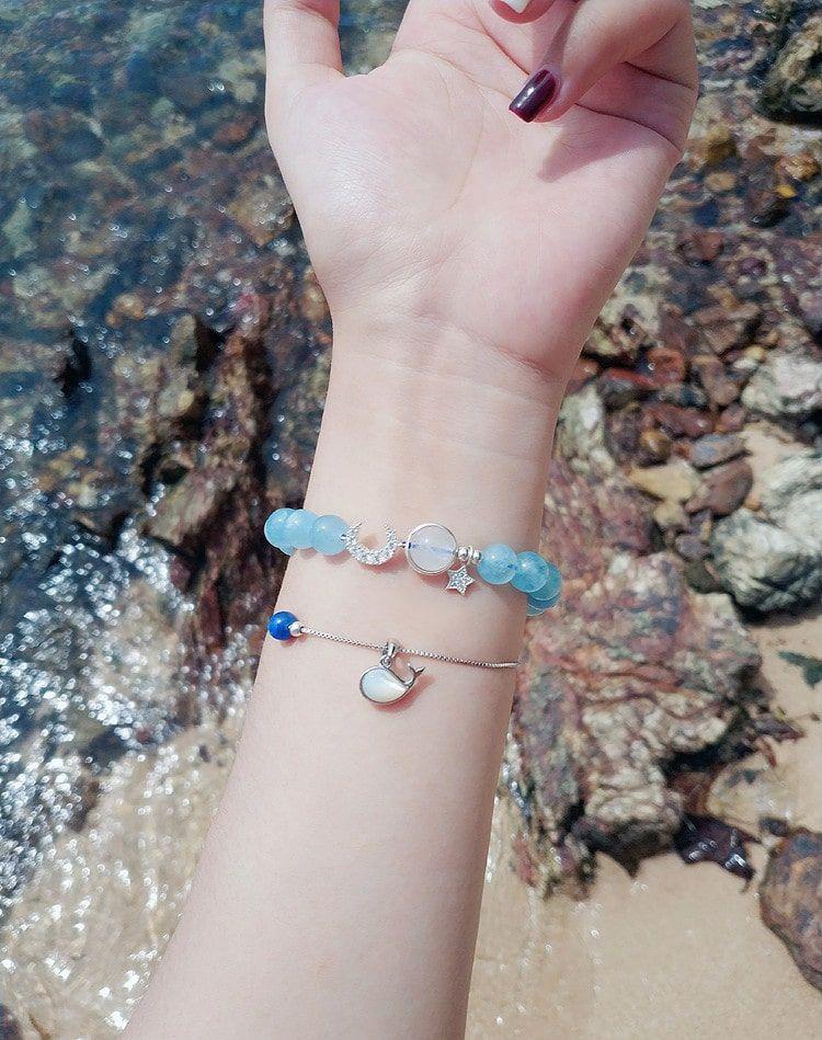Vòng đá Aquamarine giá sỉ (Ngọc Xanh Biển)