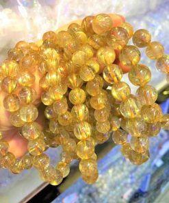 Vòng đá thạch anh tóc vàng giá sỉ (Rutilated Quartz)
